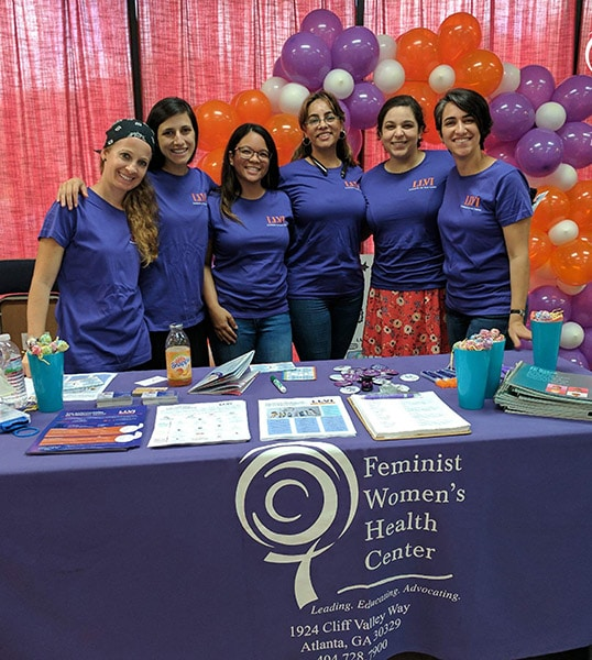 Members of the Lifting Latinx Voices Initiative team pose during the Latinx Health Fair.