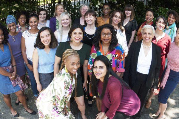 Feminist Women's Health Center team posing for a group photo outside.